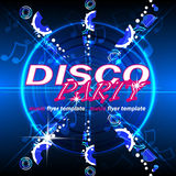 Disco party flyer template Stock Photo