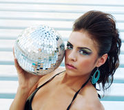 Disco party girl Stock Photography