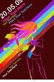 Disco Party Girl Flyer Stock Photo