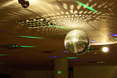 Disco Party Globe. Retro Disco Party Globe Indoors Stock Image