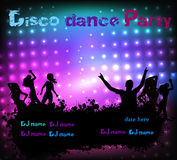 Disco party grunge poster template Royalty Free Stock Photos