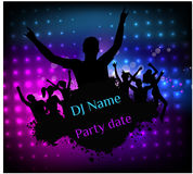 Disco party grunge poster template Royalty Free Stock Images