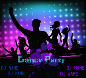 Disco party grunge poster template Royalty Free Stock Photo