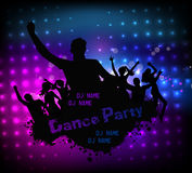Disco party grunge poster template Royalty Free Stock Image