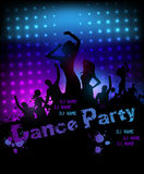 Disco party grunge poster template Stock Photography