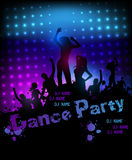 Disco party grunge poster template Stock Image