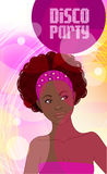 Disco party invitation Stock Images