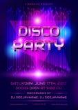 Disco party invitation. Stock Image