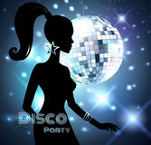 Disco Party invitation Royalty Free Stock Image