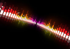 Disco Party Music Equalizer Stock Image