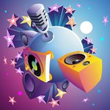Disco party planet. Vector illustration Stock Images