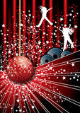 Disco party poster Stock Image