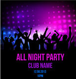 Disco party poster background Royalty Free Stock Images