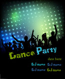 Disco party poster background Stock Images