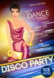 Disco party poster Stock Photos
