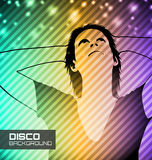Disco party poster Royalty Free Stock Image