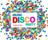 Disco party poster. Musik disco vector. 10 eps Stock Images