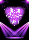 Disco party poster. Nightclub. Vector illustration Stock Images