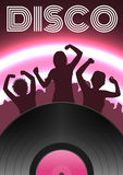 Disco party poster Royalty Free Stock Images