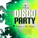 Disco party poster with place for text Royalty Free Stock Image