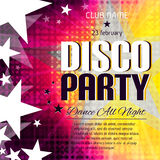 Disco party poster with place for text Stock Images