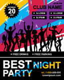 Disco Party Poster Stock Images