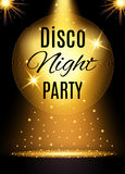Disco party poster template with shining element. Vector illustration Stock Photo