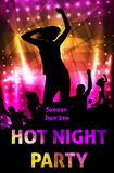 Disco party poster template Stock Photo