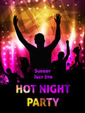 Disco party poster Royalty Free Stock Photography