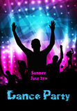 Disco party poster Stock Photography