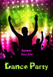 Disco party poster Royalty Free Stock Photos