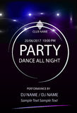 Disco party.Poster template.Vector illustration Royalty Free Stock Photography