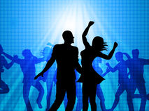 Disco Party Represents Dance Celebration And Joy Royalty Free Stock Photos