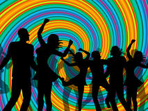 Disco Party Represents Discotheque Dancing And Nightclub. Disco Dancing Indicating Dance Discotheque And Cheerful Stock Photography