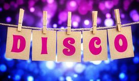 Disco party sign Royalty Free Stock Images