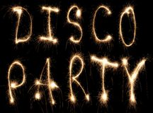 Disco party sparkler Royalty Free Stock Images