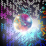 Disco party vector background. Light design background Stock Images
