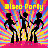 Disco party. Vector illustration Stock Photo
