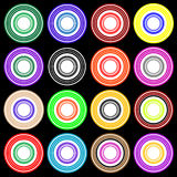 Disco Pattern colorful party circles stock photo