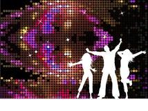 Disco people royalty free illustration