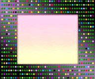 Disco picture frame royalty free stock photography