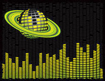Disco Planet City royalty free illustration