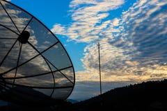 Disco por satélite Foto de archivo libre de regalías