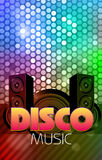 Disco poster. Abstract background Stock Photography