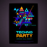 Disco poster. Abstract triangle background Royalty Free Stock Photo