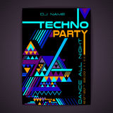 Disco poster. Abstract triangle background Stock Photography