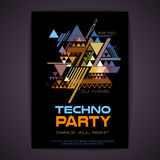 Disco poster. Abstract triangle background Royalty Free Stock Image