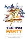 Disco poster. Abstract triangle background Royalty Free Stock Images