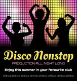 Disco poster with dancers Stock Photography