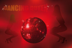 Disco poster with dancing queen Royalty Free Stock Image